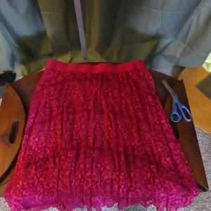 Metrowear Red Lace Skirt